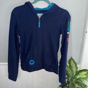 {AEROPOSTALE} Navy Blue Fleece Zip Up Jacket